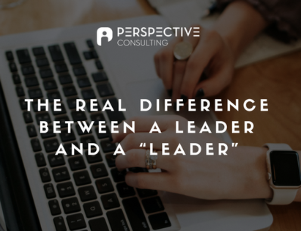 "The real difference between a leader and a ""leader"""